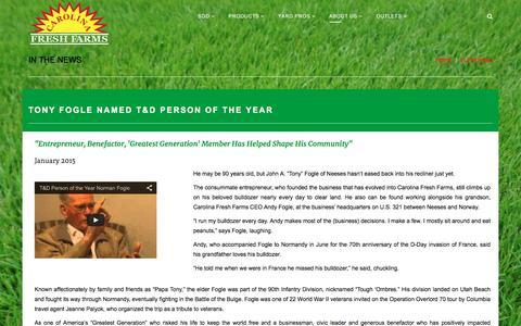 Screenshot of Press Page carolinafreshfarms.com - Carolina Fresh Farms | In The News - Carolina Fresh Farms - captured Dec. 7, 2015