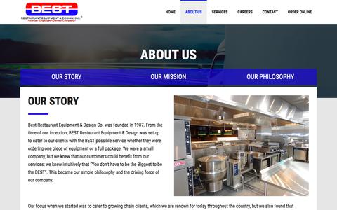 Screenshot of About Page bestrestaurant.com - About Us - Best Restaurant Equipment & Supply Co. - captured Oct. 10, 2017