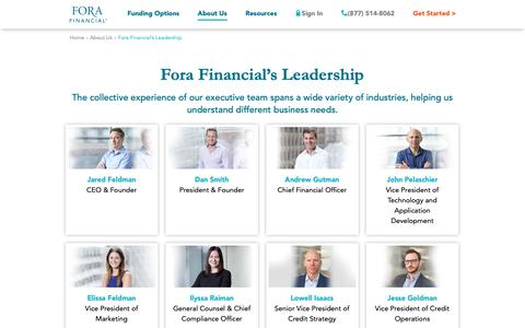 Screenshot of Team Page forafinancial.com - (2) New Messages! - captured June 19, 2019