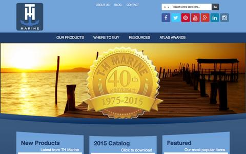 Screenshot of Home Page thmarine.com - Marine Boat Accessories - TH Marine Boating Supplies - captured Oct. 1, 2015