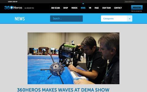 Screenshot of Press Page 360heros.com - News | 360Heros | VR | Virtual Reality - captured Nov. 11, 2015