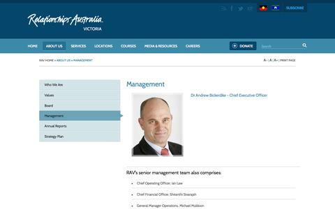 Screenshot of Team Page relationshipsvictoria.com.au - Board and Management | Relationships Australia Victoria - captured Oct. 26, 2014
