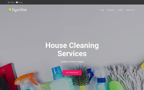 Screenshot of Home Page housecleaning-services.co.uk - Hyper White House Cleaning Services London - House Cleaning Services - captured Sept. 24, 2018