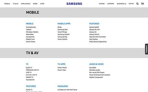 Screenshot of Site Map Page samsung.com - sitemap | Samsung CA - captured Oct. 19, 2018