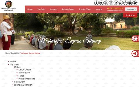 Screenshot of Site Map Page the-maharajas.com - Maharaja Express Booking | Maharaja Train Package | Maharajas Express Fare - captured Sept. 24, 2018