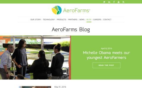 Screenshot of Blog aerofarms.com - AeroFarms -   AeroFarms Blog - captured July 3, 2016