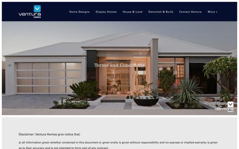Screenshot of Terms Page ventura-homes.com.au - Terms and Conditions - Ventura Homes - captured Dec. 11, 2016