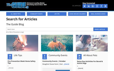 Screenshot of Blog theguide.com - Search for Articles | The Guide Blog - captured Oct. 19, 2018
