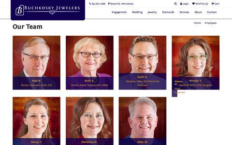 Screenshot of Team Page buchkosky.com - Buchkosky Jewelers:  Our Team - captured Nov. 23, 2016