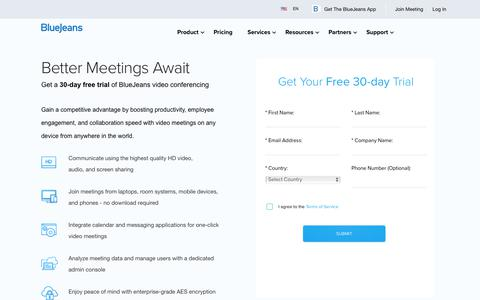Try BlueJeans Video Conferencing Free for 30 Days - BlueJeans | BlueJeans Network