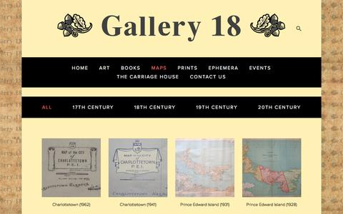 Screenshot of Maps & Directions Page gallery18.com - Maps — Gallery 18 - captured July 14, 2017