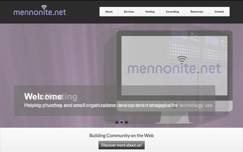 Screenshot of Home Page mennonite.net - Mennonite.net | Building Community on the Web - captured Oct. 1, 2014
