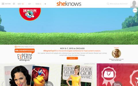 Screenshot of Home Page sheknows.com - SheKnows | Entertainment, Recipes, Parenting & Love Advice - captured Oct. 22, 2015
