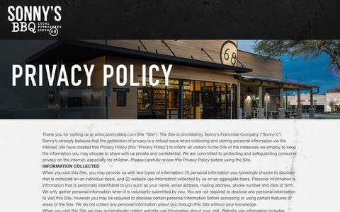 Privacy Policy | Sonny's BBQ