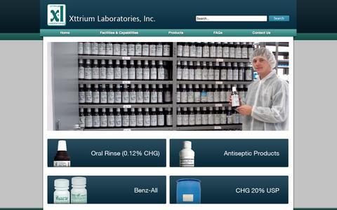 Screenshot of Products Page xttrium.com - Products | Xttrium Laboratories - captured Oct. 7, 2014