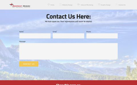 Screenshot of Contact Page redpoint-design.com - Contact Us - captured June 13, 2017