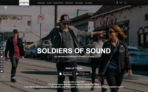 Screenshot of Signup Page solrepublic.com - soldier of sound - captured Nov. 23, 2015