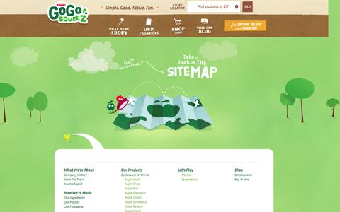 Screenshot of Site Map Page gogosqueez.com - Sitemap - captured Oct. 27, 2014