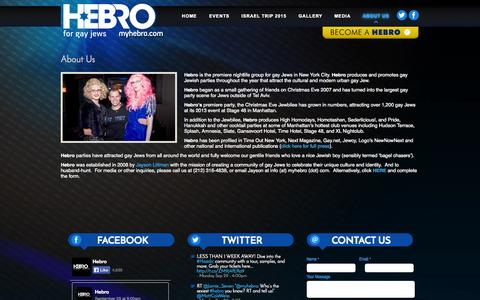 Screenshot of About Page myhebro.com - About Us | HEBRO - captured Oct. 1, 2014