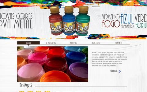 Screenshot of Home Page truecolors.com.br - Truecolors - captured Nov. 19, 2018
