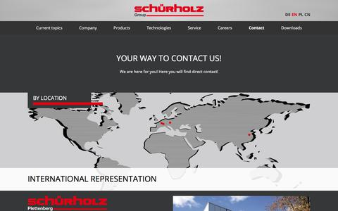 Screenshot of Contact Page Maps & Directions Page schuerholz-group.com - Contact – Schürholz - captured July 12, 2018