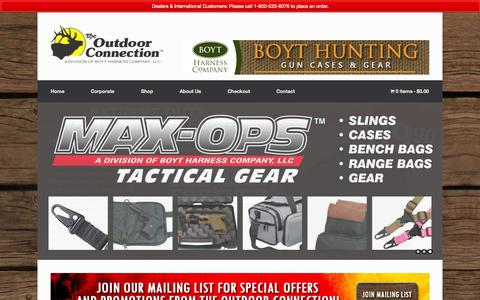 Screenshot of Home Page max-ops.com - The Outdoor Connection | The Sling Company - captured Oct. 6, 2014