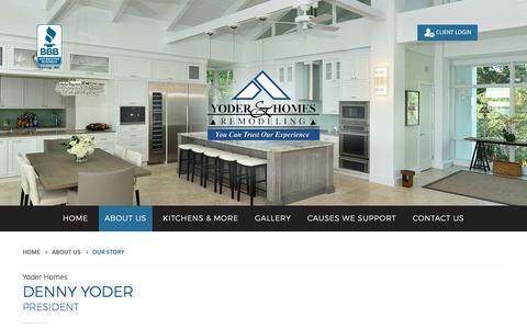 Screenshot of About Page yoder-homes.com - Construction & Home Remodeling Company in Sarasota FL & Bradenton FL | Yoder Homes & Remodeling - captured July 26, 2018