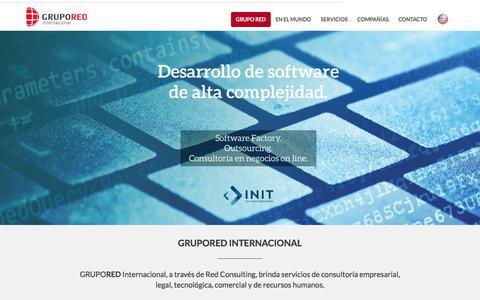 Screenshot of Home Page gruporedargentina.com.ar - GRUPORED Internacional - captured Feb. 15, 2018