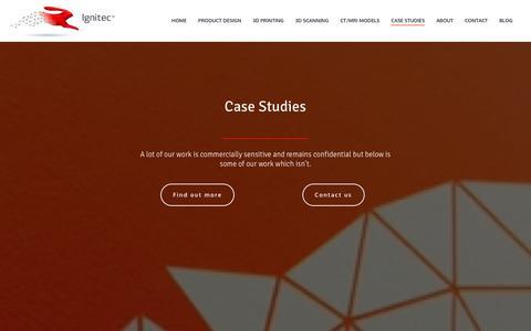 Screenshot of Case Studies Page ignitec.com - Case studies - Ignitec - captured Dec. 16, 2015