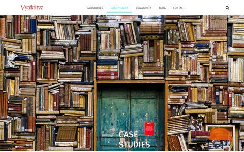 Screenshot of Case Studies Page vyaktitva.net - Case Studies – Vyaktitva - captured Dec. 11, 2018