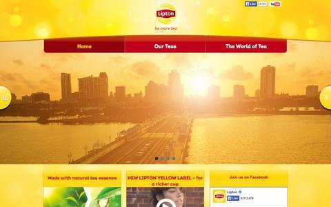 Screenshot of Home Page lipton.com.au - Lipton® Tea - captured Jan. 30, 2015