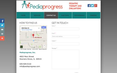 Screenshot of Privacy Page Contact Page pediaprogress.com - Contact Us - captured Oct. 22, 2014