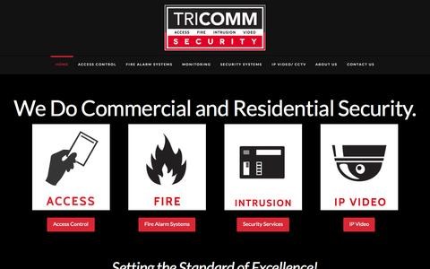 Screenshot of Home Page tri-security.com - Tri Communications Security Services - captured Aug. 15, 2015