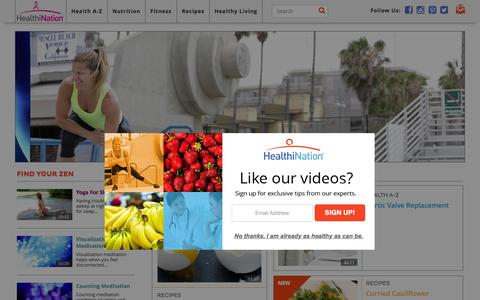 Screenshot of Home Page healthination.com - HealthiNation - captured Oct. 19, 2015