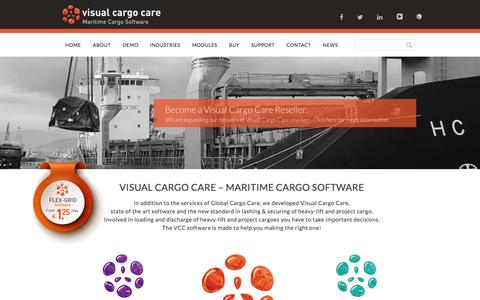 Screenshot of Home Page visualcargocare.com - Visual Cargo Care - Maritime Cargo Software - Visual Cargo Care - captured Jan. 11, 2016