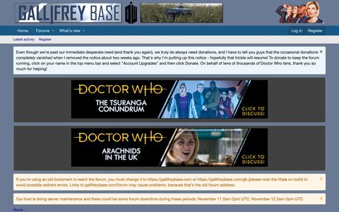 Screenshot of Login Page gallifreybase.com - Log in | The Doctor Who Forum at Gallifrey Base - captured Nov. 8, 2018