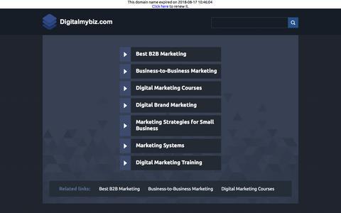 Screenshot of Home Page digitalmybiz.com - Digitalmybiz.com - captured Sept. 20, 2018