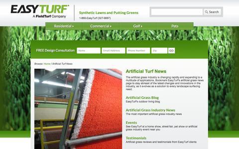 Screenshot of Press Page easyturf.com - Artificial Turf News | EasyTurf - captured Oct. 22, 2014