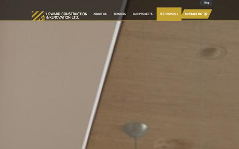 Screenshot of Testimonials Page upwardconstruction.ca - Testimonials | Upward Construction & Renovation, North Vancouver | North Shore Vancouver Custom Homes, Renovations, and Additions - captured Oct. 26, 2014
