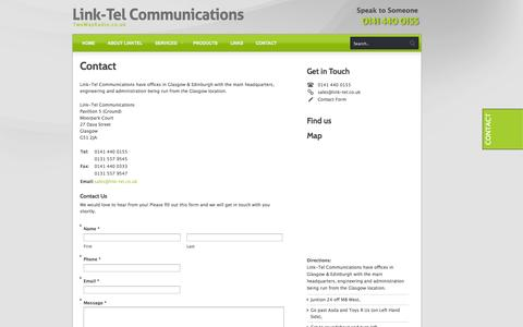 Screenshot of Contact Page Maps & Directions Page twowayradio.co.uk - Contact Link Tel Communications -  Motorola Authorised Dealer Scotland | Linktel - captured Oct. 22, 2014