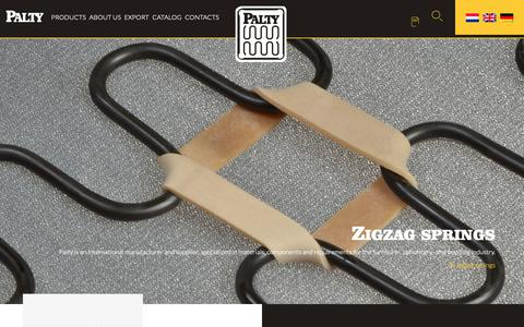 Screenshot of Home Page palty.com - Fabriek van Palty Producten B.V - International manufacturer and supplier - captured Sept. 26, 2018