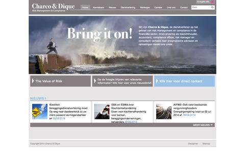 Screenshot of Home Page charcoendique.nl - Charco & Dique -                                Homepage - captured Oct. 2, 2014