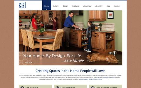 Screenshot of Home Page ksikitchens.com - Kitchen Design & Bath Design Experts in MI & OH | KSI - captured Feb. 12, 2016
