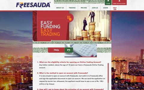 Screenshot of FAQ Page freesauda.com - FAQ | Freesauda - captured Sept. 30, 2014