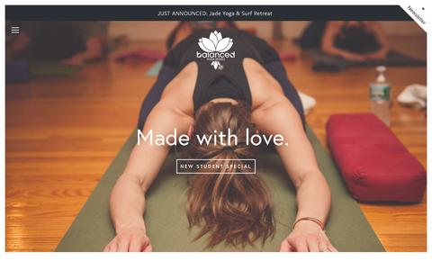 Screenshot of Home Page balancedyoga.us - Balanced Yoga Studio Home - captured Nov. 22, 2016