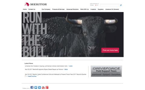 Screenshot of Team Page meritor.com - Meritor - Home - captured June 4, 2017