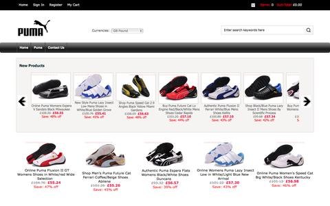 Screenshot of Home Page havefunfindingtheone.co.uk - Store Women's Puma Shoes, Online Men's Puma - captured Jan. 27, 2016