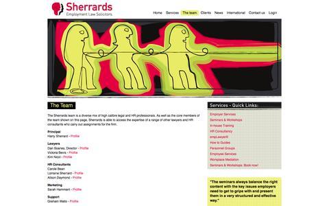 Screenshot of Team Page harrysherrard.com - Harry Sherrard Website - captured Oct. 7, 2014