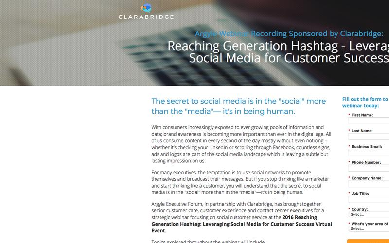 Webinar Recording – Leveraging Social Media for Customer Success