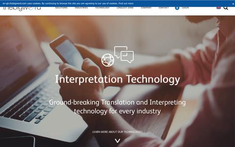 Interpretation Technology - Technology - thebigword